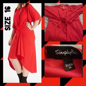 Simply Be RED  DRESS
